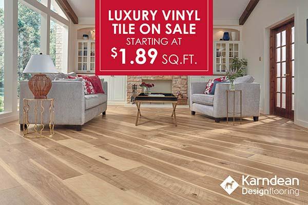 Luxury Vinyl Tile Flooring starting at $1.89 sq,ft. at J & S Flooring in Georgetown