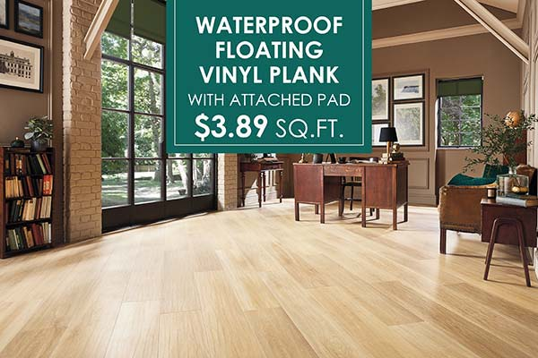 Waterproof Luxury Vinyl Plank Flooring $3.89 sq,ft. at J & S Flooring in Georgetown
