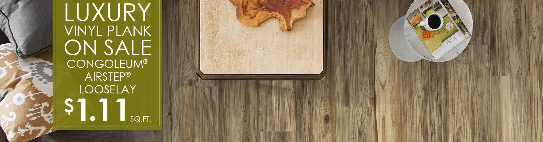 Luxury Vinyl Plank On Sale! Congoleum® Airstep® Looselay $1.11 sq.ft. at J & S Flooring in Georgetown, SC.